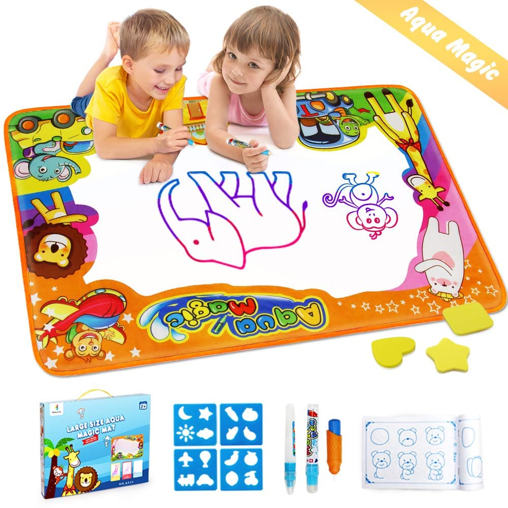 """34.5"""" X 22.5"""" Betheaces  Water Drawing Mat for Kids with 6 Drawing Templates - $8.99"""