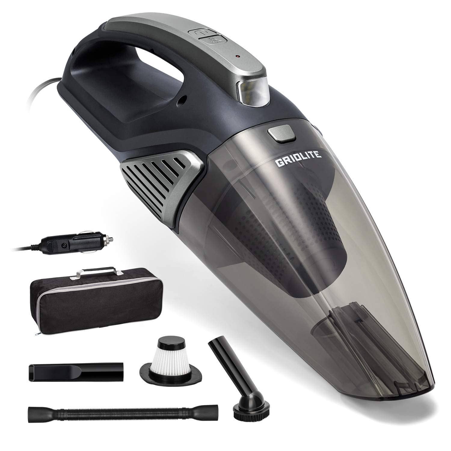 Cyber Monday Deals : GridLite 5000PA Car Vacuum Cleaner with Nozzle Set $17.39 +FS for Prime Members