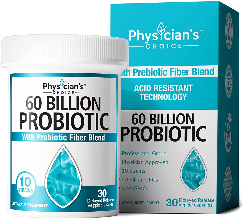 30 ct Shelf Stable Probiotic Supplement with Organic Prebiotic, 60 Billion CFU $13.04 + FSSS