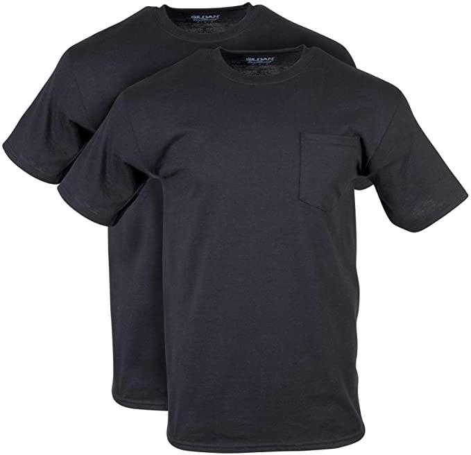 2-Pack Gildan Men's DryBlend Workwear Pocket Crew Neck T-Shirts (Various) $7.90