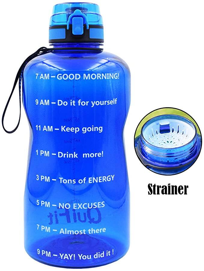 BuildLife BPA Free Water Bottle with Time Marker & Strainer from $5.98 + FSSS