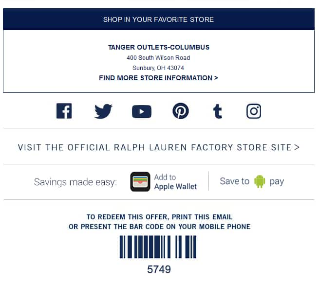 Polo Ralph Lauren Extra 25% Off Special Offer Is Inside