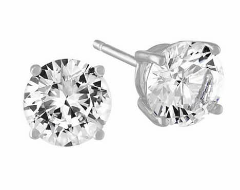 Limited Time Special! Lab Created White Sapphire Stud Earrings in Sterling Silver - JCPenney $10