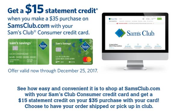Sam S Club Credit Card Statement Credit 15 Off 35 Ymmv