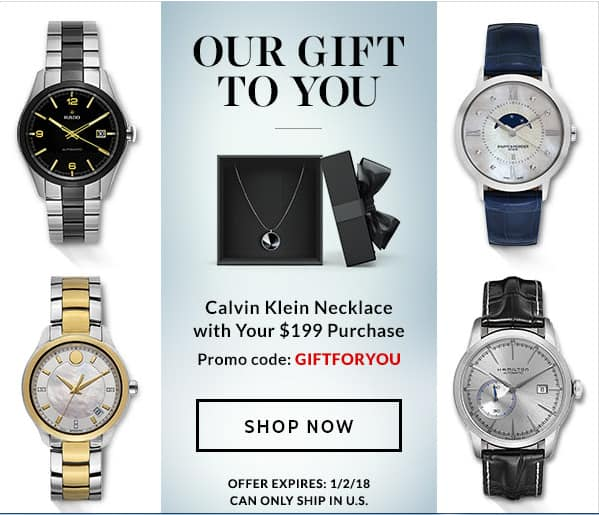 Calvin Klein Necklace with purchase of $199