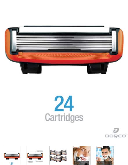 Pace 6 Cartridges, 24 Refills (Save 20%) + $10 with coupon + Free shipping ($20.5 + tax) $20.52