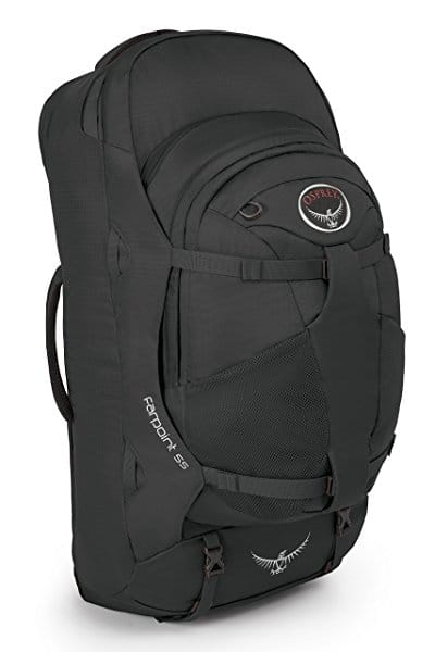 Osprey Farpoint 55 Black or Red for $135