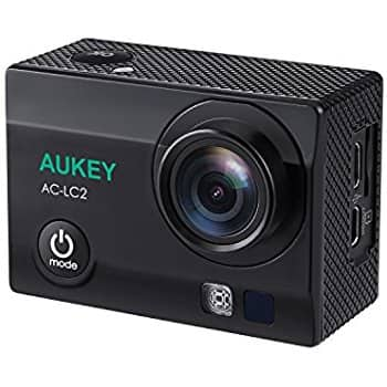 AUKEY AC-LC2 Action Camera, 4K  Sports Camera with 170° Wide Angle Lens - $59.49 after 15% coupon - Prime Eligible; Standard Free Shipping at AMAZON