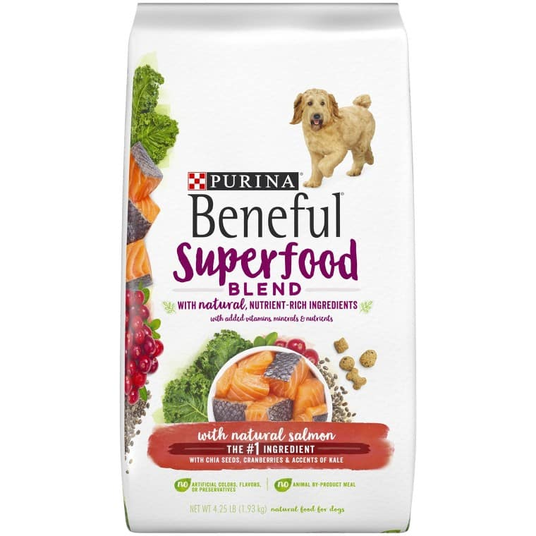 Beneful Grain Free or Superfood Blend Dry Dog Food 4 lb bag (In-Store) $3