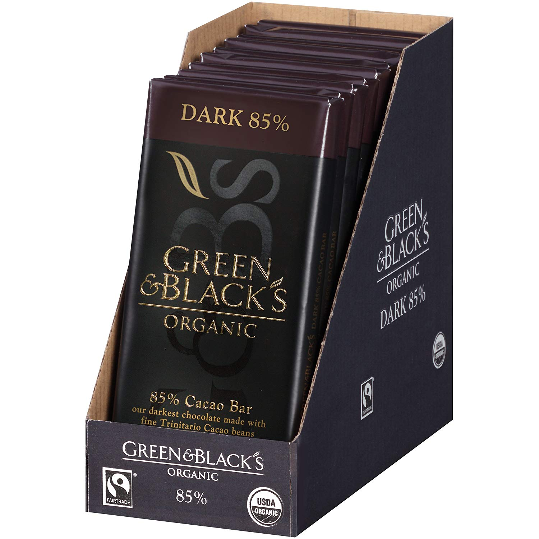 10 Pack Green & Black's Organic Dark Chocolate, 85% Cacao, 3.5 Ounce $25.31