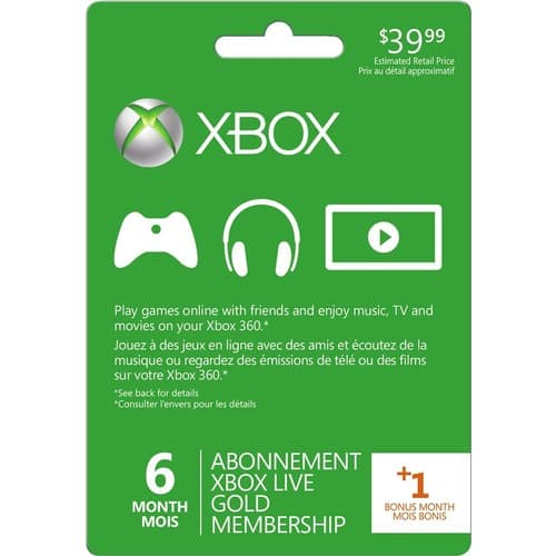 Microsoft - Xbox Live 6+1 Month Gold Membership + Free Rainbow Six Siege Download Code $39.99 @ BB