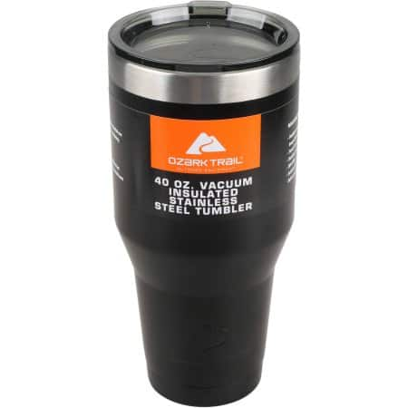 Ozark Trail 40 oz Vacuum Insulated Stainless Steel Tumbler (black) $6.92 @ Walmart