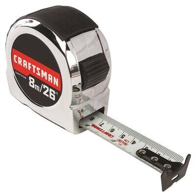 CRAFTSMAN CHROME 26-ft Tape Measure $2.09