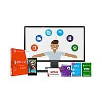 Microsoft Store Deal: Microsoft Work & Play $149.00 (Office 365 Home + Wi-Fi Skype Unlimited World + Xbox Live Gold + $60 Bonus Gift Card + 3 month Netflix gift subscription