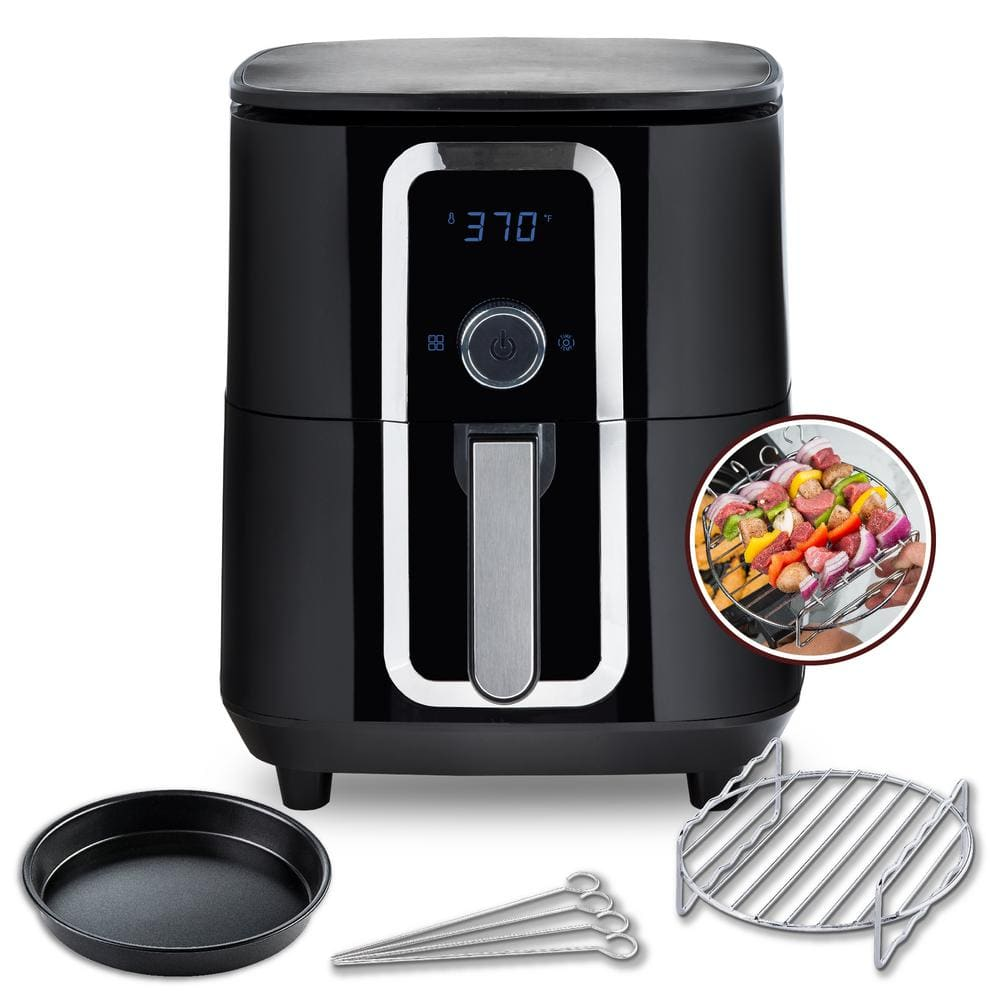 7Qt Family Size Ceramic Digital Aria Air Fryer with full accessory set $69.98 + tax + free shipping at Home Depot