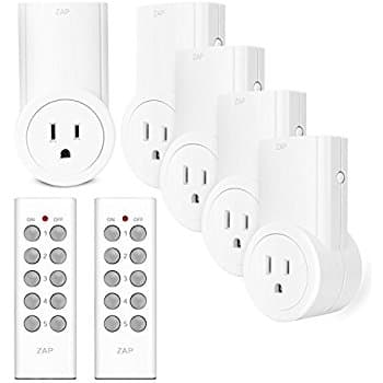 5-Pack Etekcity Wireless Outlet Light Switch w/ 2 Remotes $21.48