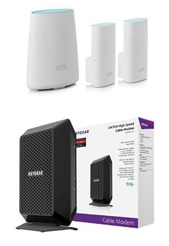 Netgear Orbi Home WiFi System RBK33 with CM700 Cable Modem