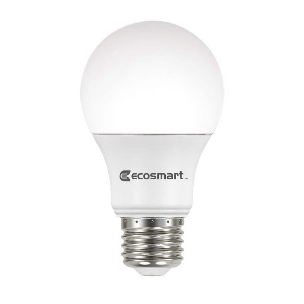 Bon EcoSmart 60 Watt Equivalent A19 Non Dimmable Basic LED Light Bulb, Daylight  $1.22