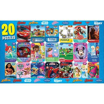 Disney, Marvel and more: Licensed Mini Puzzles with Tins 20-pack, $13 at Costco