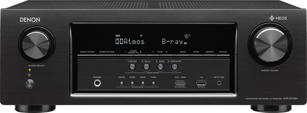 Denon AVR-S730H receiver with a Polk Signature series speaker bundle at Crutchfield Free Shipping for $1499.94