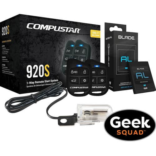 Compustar - CS920-S-KIT 1-Way Remote Start System with Tilt Switch and Geek Squad® Installation $209.99