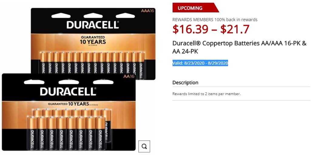 8/23-8/29 Office Depot Duracell® Coppertop Alkaline AA/AAA 16-PK AA or 24-PK + 100% Back in Rewards + Free Curbside Pickup $15.51 after coupon