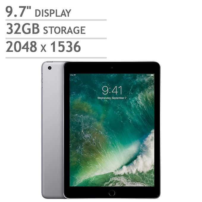 Apple iPad A9 Chip 32GB - Space Gray  - $244.99 after $25 of costco