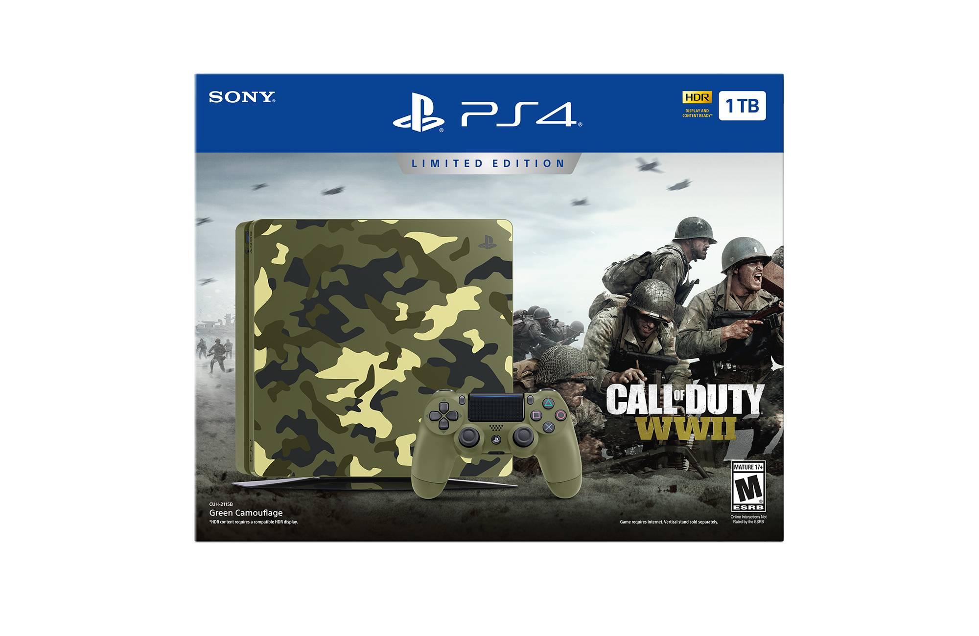 PlayStation 4 1TB Limited Edition Call of Duty: WWII Bundle  $249.99 Reg $299.99