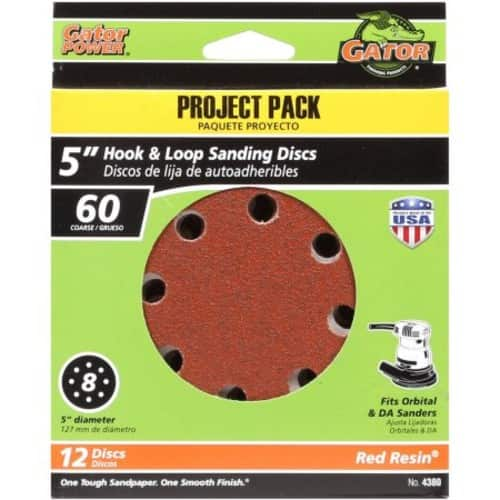 [Walmart.com] Gator Grit Hook and Loop Sandpaper / Sanding Disc, 60G, 12pk - $1.06 - Free Store Pickup