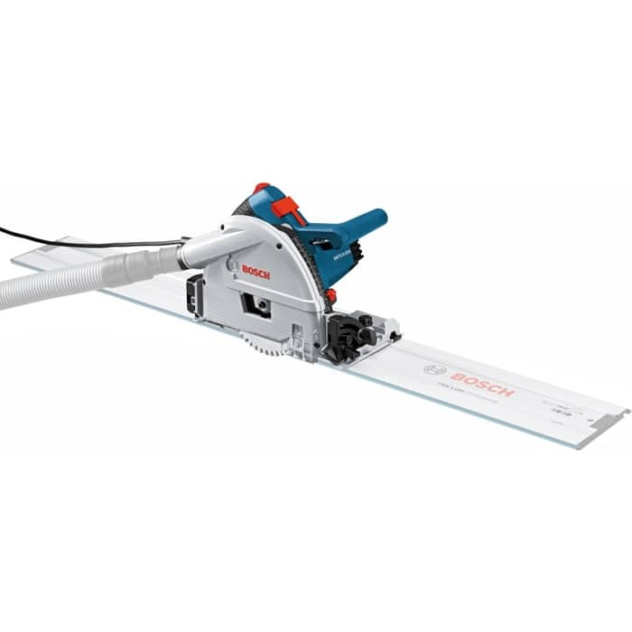 """Bosch GKT13-225L 6-1/2"""" Track Saw with L-Boxx-4 Case (FREE (2) 63"""" Guide Rails, Rail Connector, (2) Quick Clamps and Rail Bag) $599"""