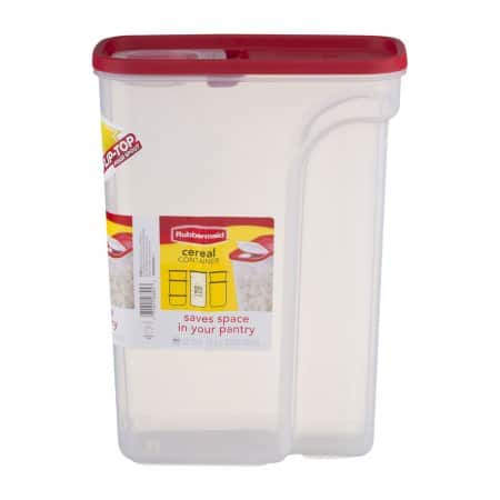 Rubbermaid Cereal Container,  22 cup, $3.60 Walmart w/ pickup discount