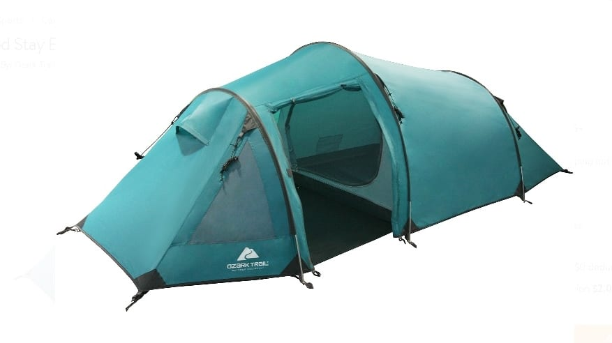 Ozark Trail Extended Stay Backpacking Tent, Sleeps 2  $29.88 Was $79.00  walmart