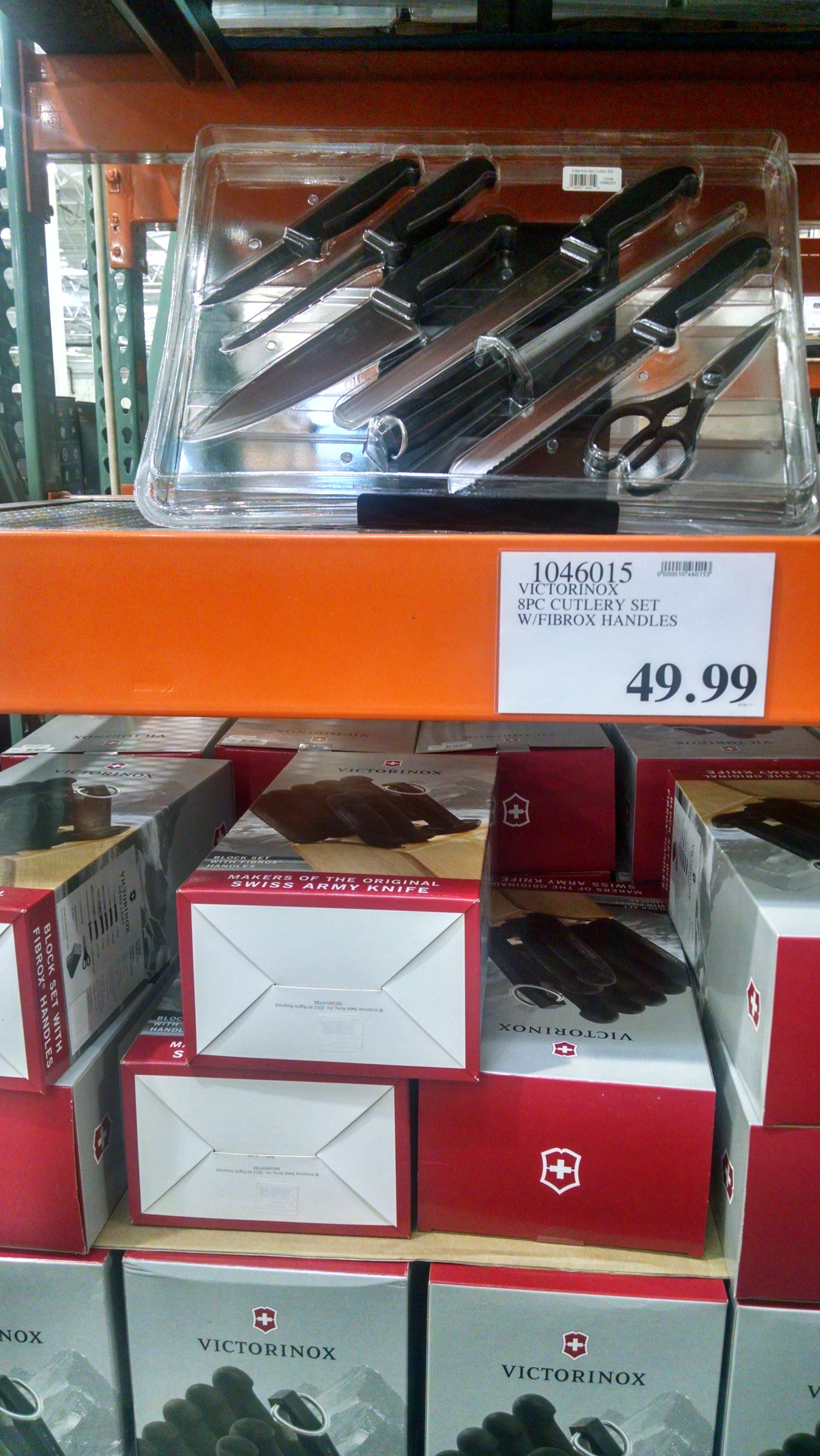 Victorinox 8-piece Knife Set, Costco, in-store, YMMV $50