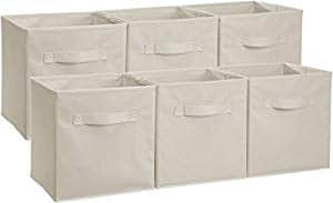 AmazonBasics Foldable Storage Bins Cubes Organizer, 6-Pack. $16.87
