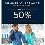 Brooks Brothers 50% off Clearance online and in stores