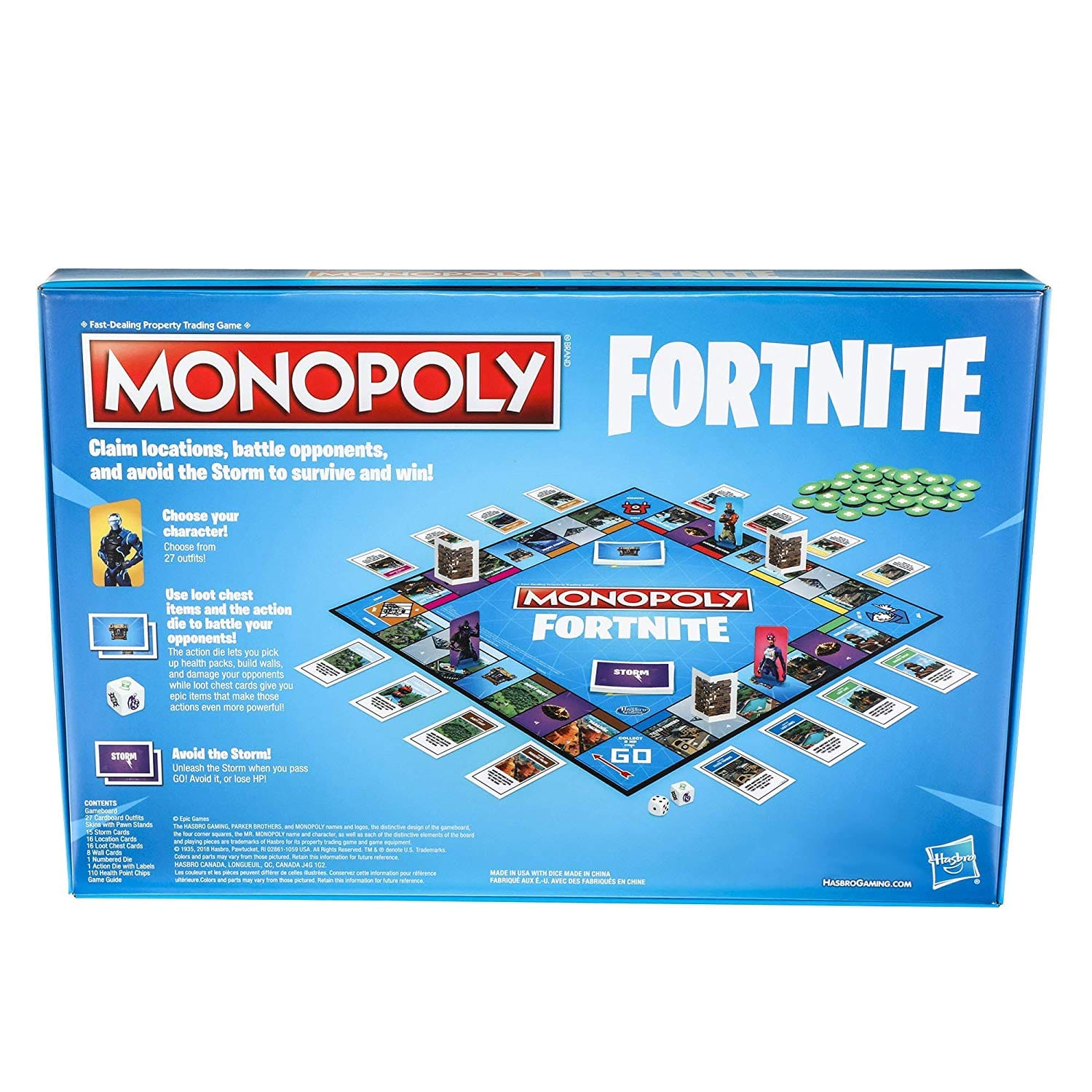 monopoly fortnite edition board game inspired by fortnite video game ages 13 and up 8 99 free shipping with amazon prime - fortnite monopoly gameplay