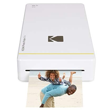 "Kodak mini portable mobile instant photo printer - Wi-Fi & NFC compatible - wirelessly prints 2.1 x 3.4"" images, White (KOD-PM210W) $69.99"