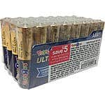 64 AAA Ultra Alkaline Batteries ordering 2 x 32-packs - $9.99