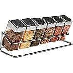 Spice Rack with 6 Glass Jars - $9.99 + FS to store