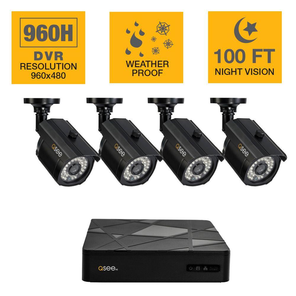 Q-SEE Surveillance System with (4) Night Vision Bullet Cameras - $150 + FS