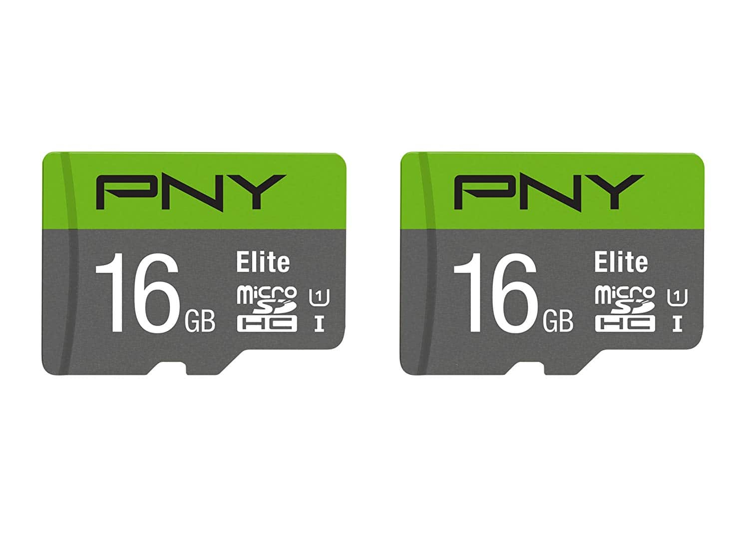 2-Pack 16GB PNY Elite Performance Class 10 UHS-1 microSDHC