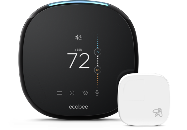 ecobee ecobee4 7-Day Smart Wi-Fi Programmable Thermostat with Room Sensor and Built-In Alexa Voice Service $209