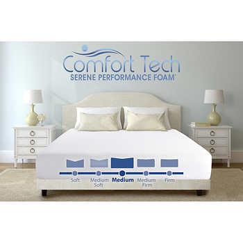 "Costco Online: Comfort Tech Serene 10"" Foam Mattress | Queen $349.99 | King $399.99 + Free Shipping"