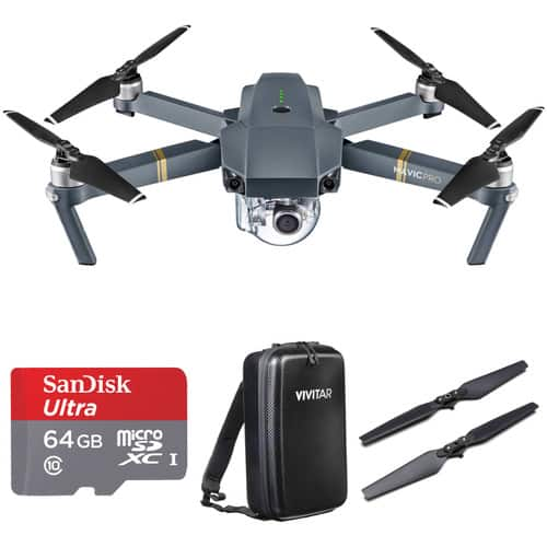 DJI Mavic Pro Bundle with Backpack and Accessories - $828.25