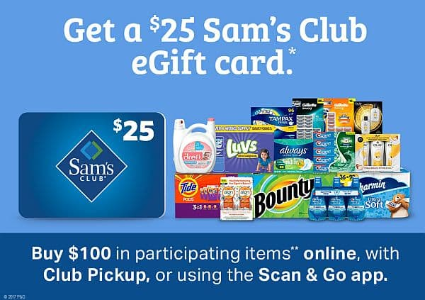 Sams Club Promotion >> Sams Club Get A 25 Gift Card When You Spend 100 And