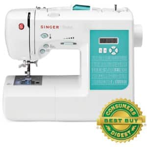 SINGER 7258 100-Stitch Computerized Sewing Machine with DVD, 10 Presser Feet and Metal Frame $138.79 at amazon