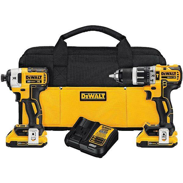 DeWALT 20V MAX XR Li-Ion Brushless Hammerdrill & Impact Driver Combo Kit $189 DELIVERED