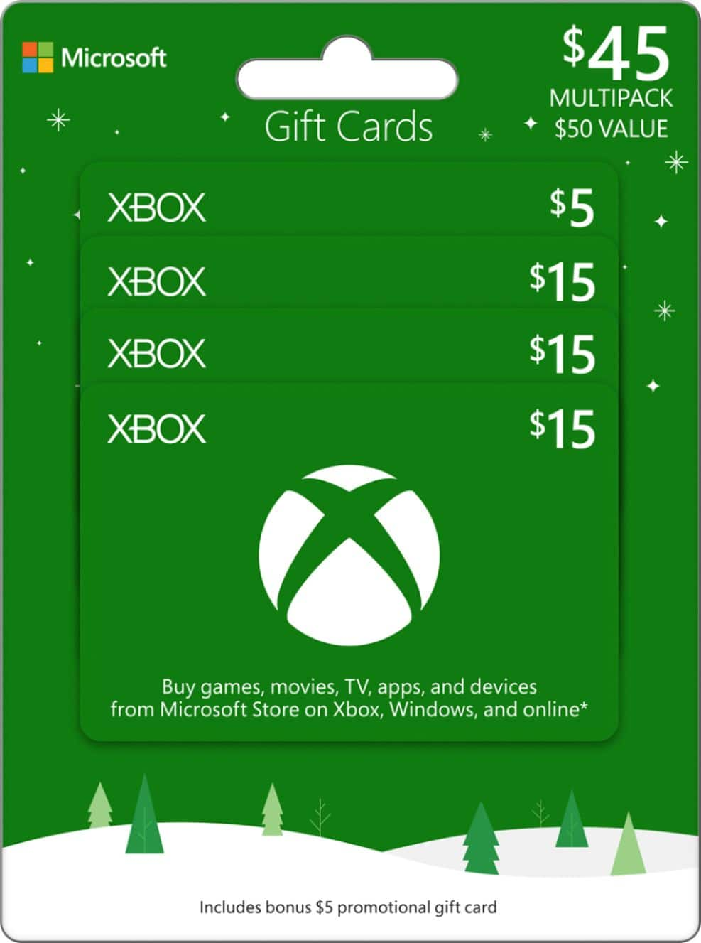 $50 Microsoft Xbox Gift Card for $45 at BestBuy com - Slickdeals net