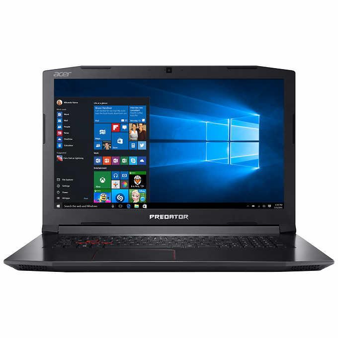 ACER Predator  Helios 300 Gaming laptop: 17.3'' IPS FHD, i7-7700HQ, 16GB DDR4, 256GB SSD, 1TB HDD, GTX 1060 6GB, Win10 $1100 @Costco