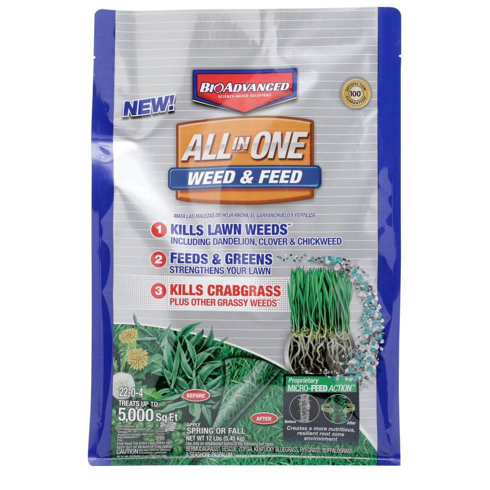 Bioadvanced  (Bayer) 12 lbs. All-in-1 Weed and Feed Granules $0.62 Fertilizer